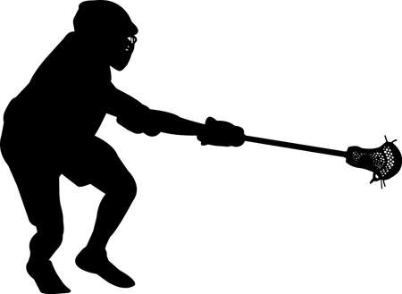 Lacrosse - Men 4 isolated vector silhouette