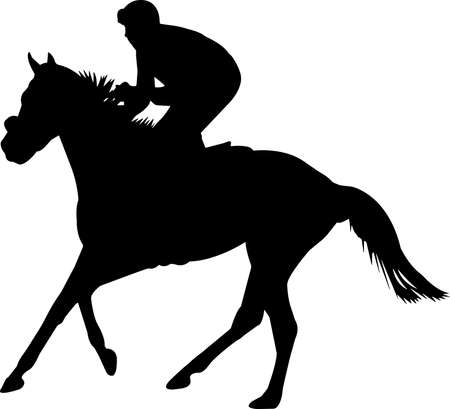 Horse Racing 10 isolated vector silhouette  イラスト・ベクター素材