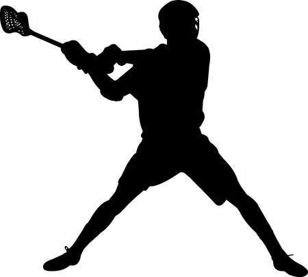 Lacrosse - Men 6 isolated vector silhouette