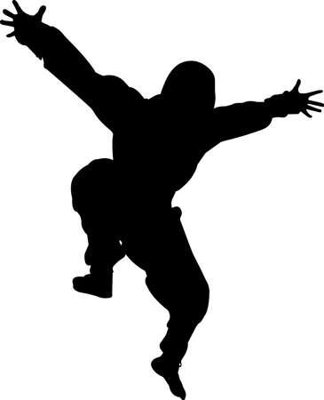 Ninjitsu 6 isolated vector silhouette Ilustracja