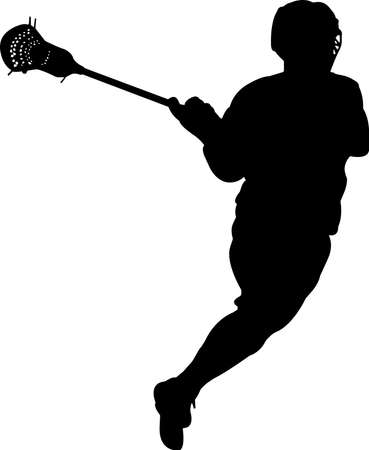 Lacrosse - Men 5 isolated vector silhouette Illusztráció
