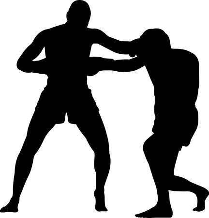 Muay Thai 3 isolated vector silhouette 矢量图像