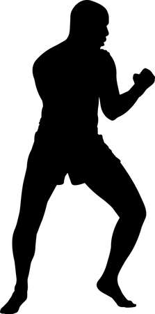 Muay Thai 10 isolated vector silhouette 矢量图像
