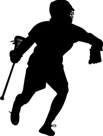 Lacrosse - Men 8 isolated vector silhouette
