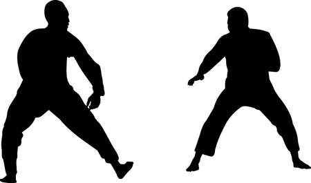 Silat 8 isolated vector silhouette