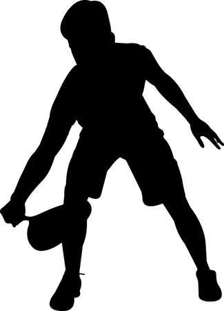 Squash - Men 2 isolated vector silhouette