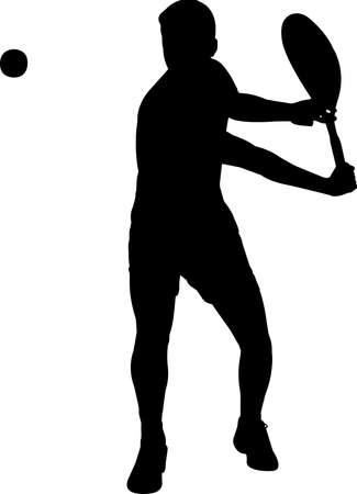Tennis - Men 9 isolated vector silhouette