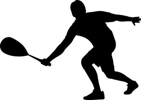 Squash - Men 3 isolated vector silhouette