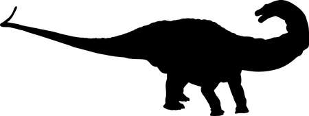 Apatosaurus 10 isolated vector silhouette