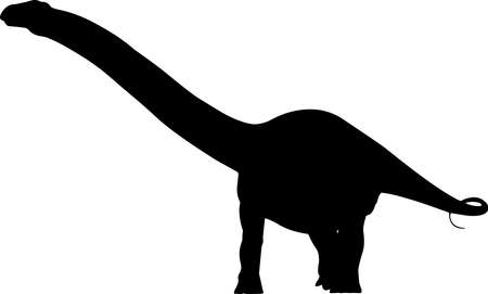 Apatosaurus 1 isolated vector silhouette