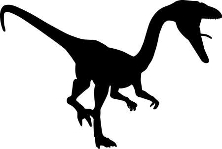 Coelophysis 3 isolated vector silhouette