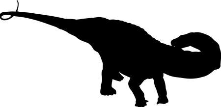 Apatosaurus 4 isolated vector silhouette