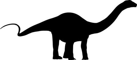 Apatosaurus 2 isolated vector silhouette