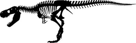 Fossils 1 isolated vector silhouette