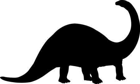 Apatosaurus 6 isolated vector silhouette
