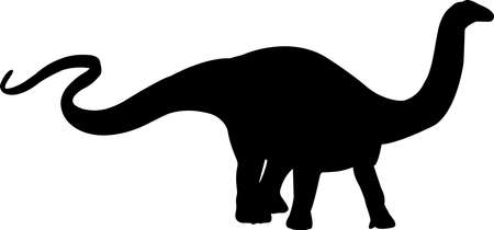Apatosaurus 9 isolated vector silhouette