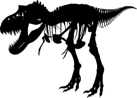 Fossils 8 isolated vector silhouette