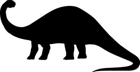Apatosaurus 8 isolated vector silhouette