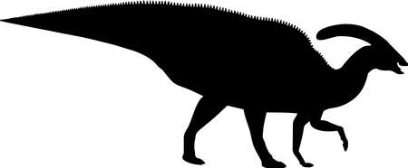 Parasaurolophus 5 isolated vector silhouette