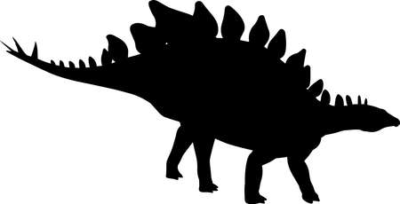 Stegosaurus 2 isolated vector silhouette