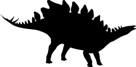 Stegosaurus 1 isolated vector silhouette