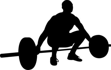 Weightlifting Men 6 isolated vector silhouette