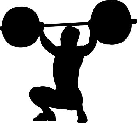 Weightlifting Men 5 isolated vector silhouette
