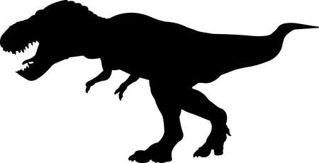 Tyrannosaurus Rex 10 isolated vector silhouette