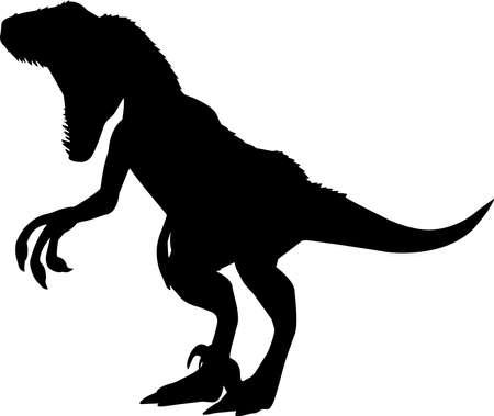 Velociraptor 1 isolated vector silhouette