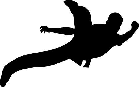 Wushu 4 isolated vector silhouette