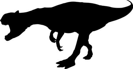 Allosaurus 5 isolated vector silhouette Иллюстрация