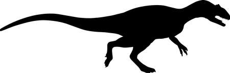 Allosaurus 1 isolated vector silhouette Иллюстрация