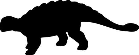 Ankylosaurus 5 isolated vector silhouette