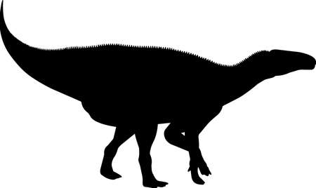 Iguanodon 7 isolated vector silhouette