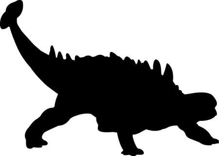 Ankylosaurus 2 isolated vector silhouette