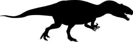 Allosaurus 2 isolated vector silhouette
