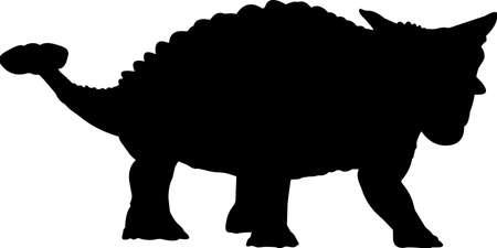 Ankylosaurus 10 isolated vector silhouette