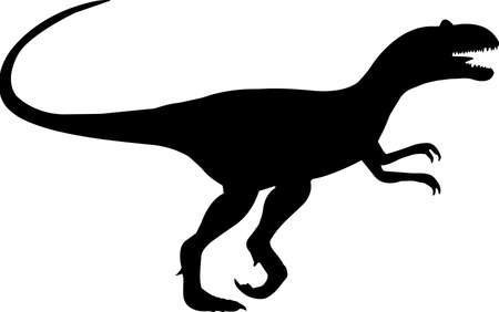 Allosaurus 4 isolated vector silhouette