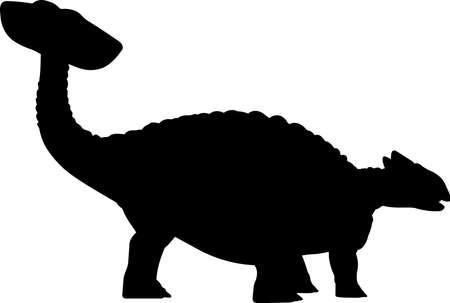 Ankylosaurus 1 isolated vector silhouette Ilustracja
