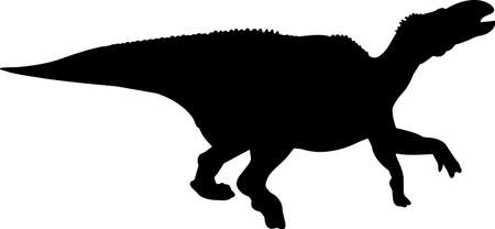 Iguanodon 9 isolated vector silhouette