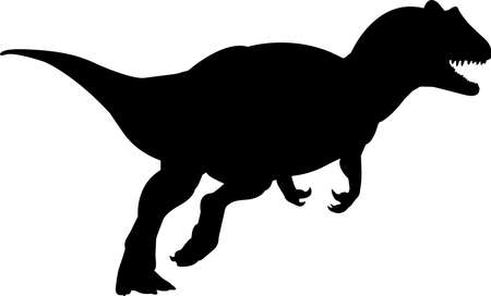 Allosaurus 7 isolated vector silhouette