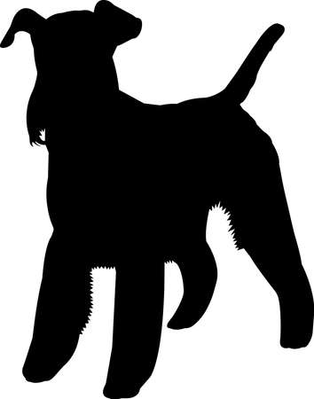 Fox Terrier 1 isolated vector silhouette