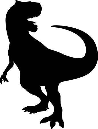 Allosaurus 8 isolated vector silhouette