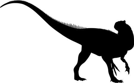 Allosaurus 6 isolated vector silhouette