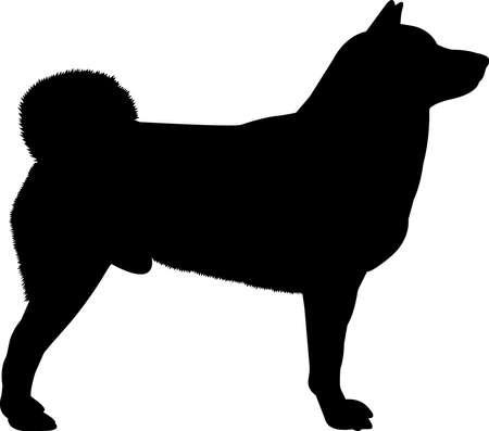 Shiba Inu 9 isolated vector silhouette Ilustracja