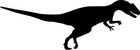 Allosaurus 9 isolated vector silhouette