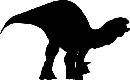 Iguanodon 6 isolated vector silhouette
