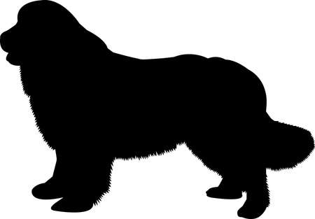 Newfoundland 8 isolated vector silhouette