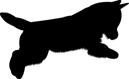 Westie dog 9 isolated vector silhouette