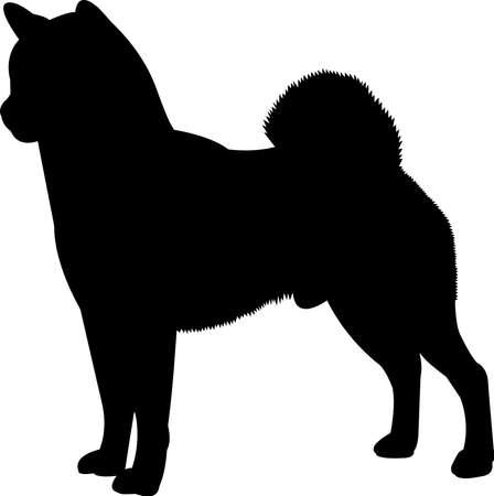 Shiba Inu 8 isolated vector silhouette